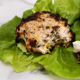Turkey & Zucchini Burgers with Sumac Yogurt Sauce