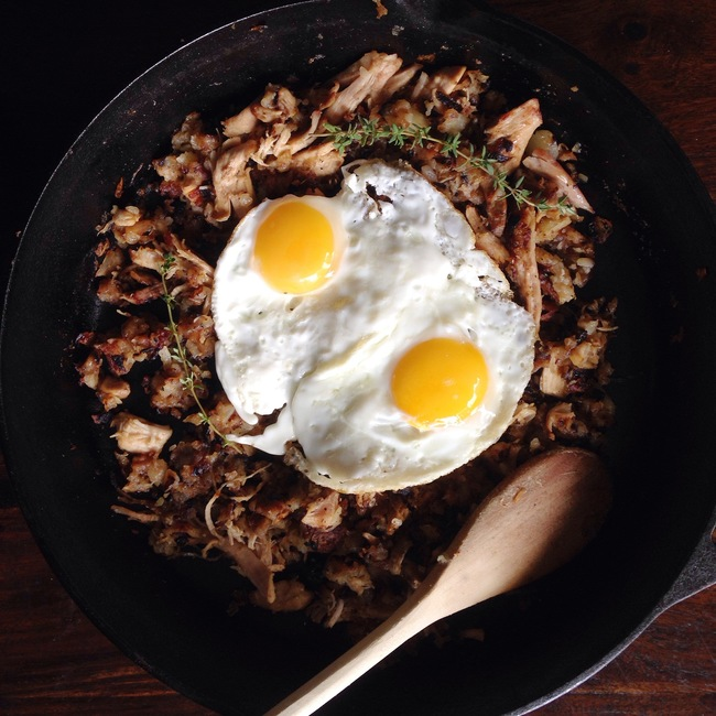 Turkey Hash with Fried Eggs