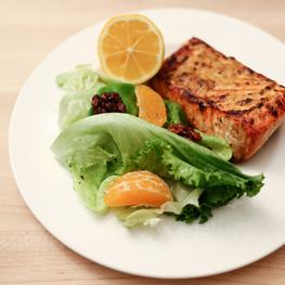 Simple Roasted Salmon with Side Salad
