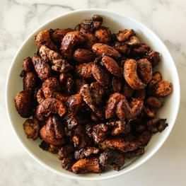 Chili Maple Roasted Nuts