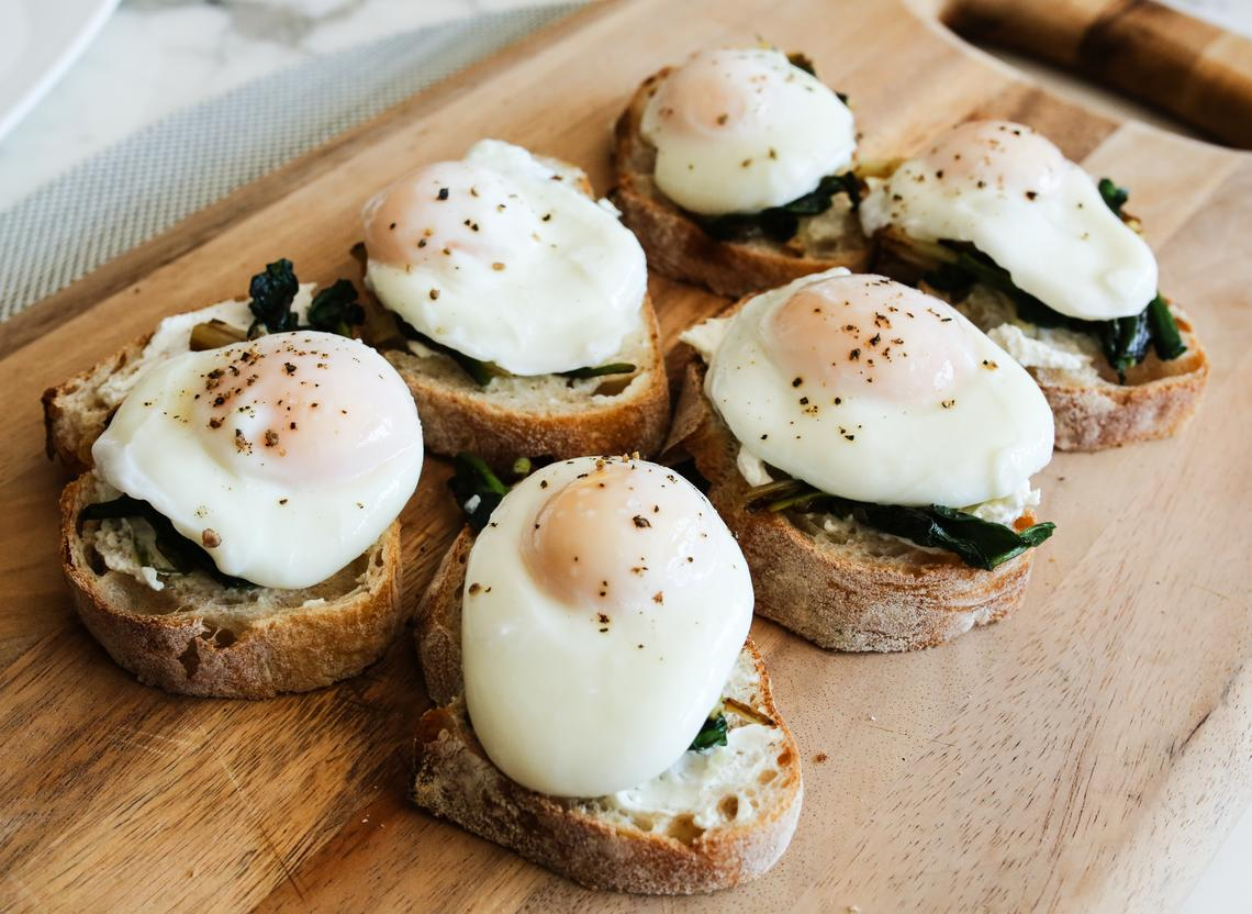 Ramp Toast with Poached Eggs